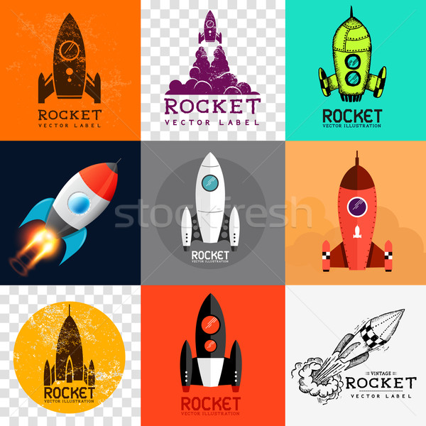 Vector Rocket Collection Stock photo © solarseven