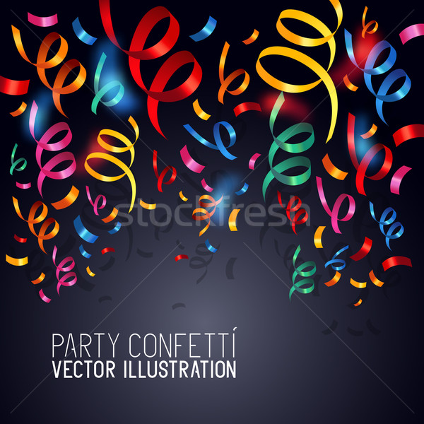 Party Confetti Vector Stock photo © solarseven