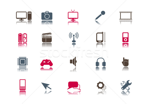 Media & Technology Icon set | Clean Stock photo © solarseven