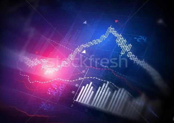 Mercado de ações dados vela vara negócio bar Foto stock © solarseven