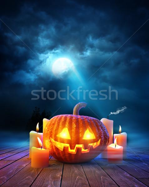 Stock photo: Halloween Evening Background