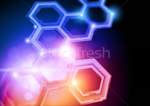 Technologie ontwerp hd gedetailleerd abstract patroon Stockfoto © solarseven