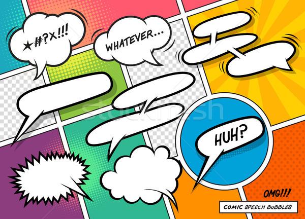 Comic Book Speech Bubbles Stock photo © solarseven