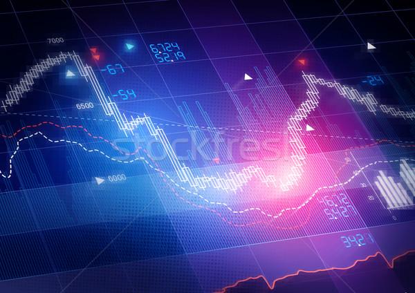 Mercato azionario prezzi candela stick business bar Foto d'archivio © solarseven