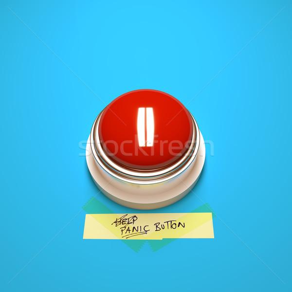 Panika przycisk duży czerwony strony napisany Zdjęcia stock © solarseven