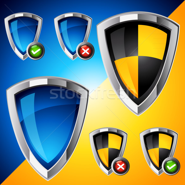 Internet Security Shield Set Stock photo © solarseven