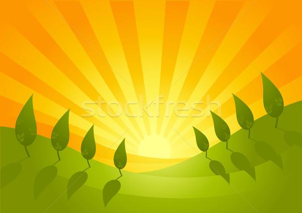 Summer Vista Landscape Stock photo © solarseven