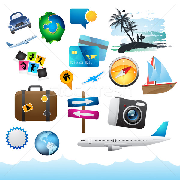Travel & Holiday Elements. Stock photo © solarseven