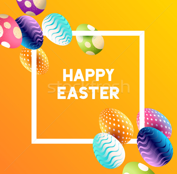 Abstract Easter Egg Background Stock photo © solarseven