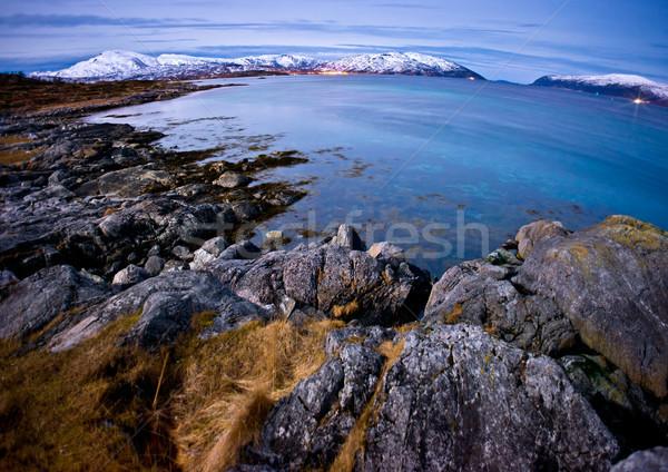 Settentrionale terreno panorama scena spiaggia Foto d'archivio © solarseven