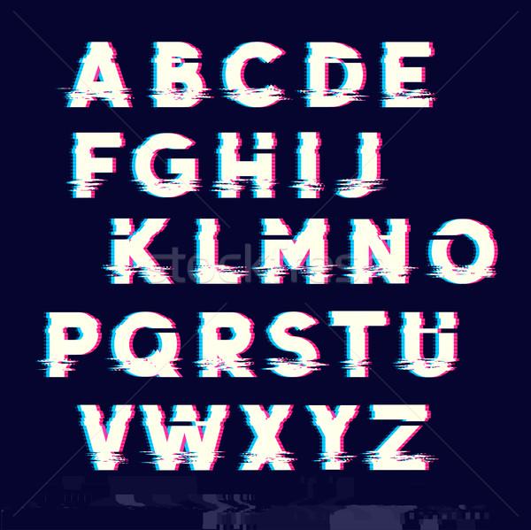 Type brieven fout lijn lijnen televisie Stockfoto © solarseven