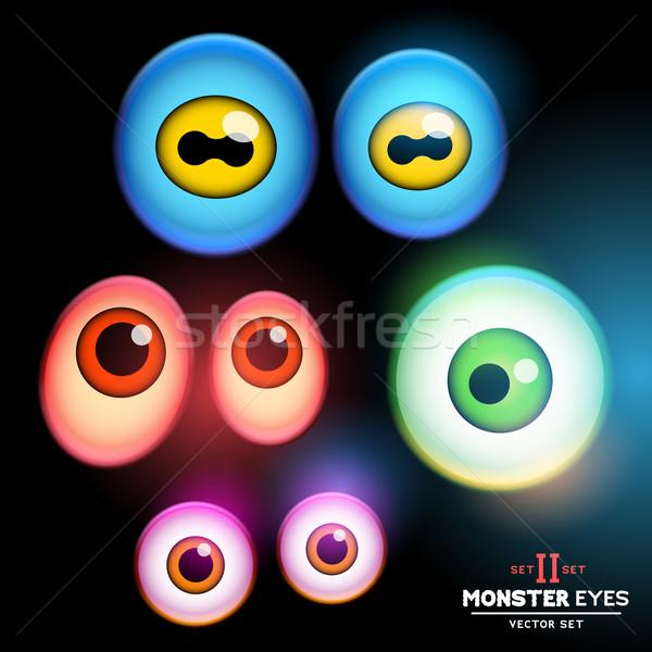 Monstruo globo del ojo colección ojo establecer eps Foto stock © solarseven