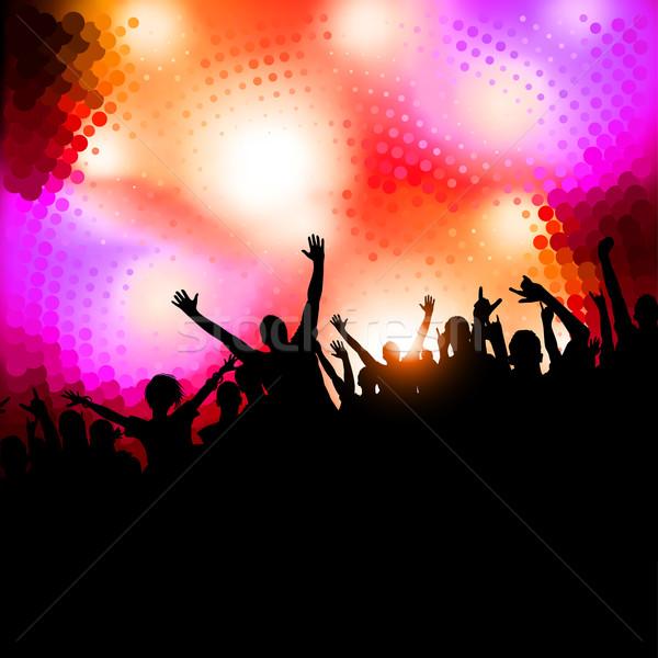 Kutlama parti büyük kalabalık insanlar dizayn Stok fotoğraf © solarseven