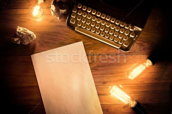Vintage Typewriter Desk Stock photo © solarseven