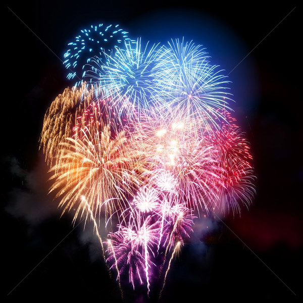 Large Professional Fireworks Display Stock photo © solarseven