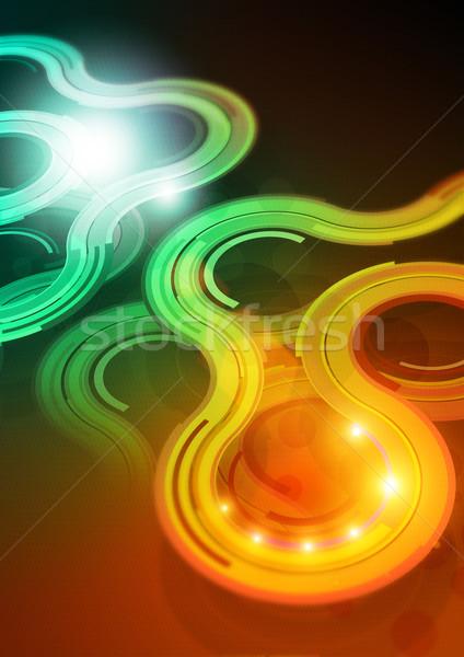 デザイン hd 詳しい 抽象的な ライト ストックフォト © solarseven