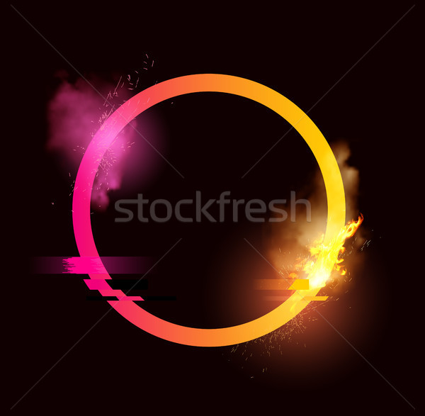 Glitch Loop with Sparks and Smoke Stock photo © solarseven
