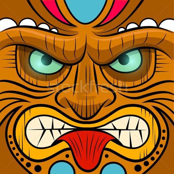 Square Faced Tiki Mask Stock photo © solarseven
