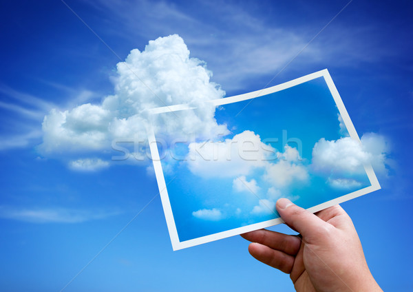 Clouds from a Picture Stock photo © solarseven