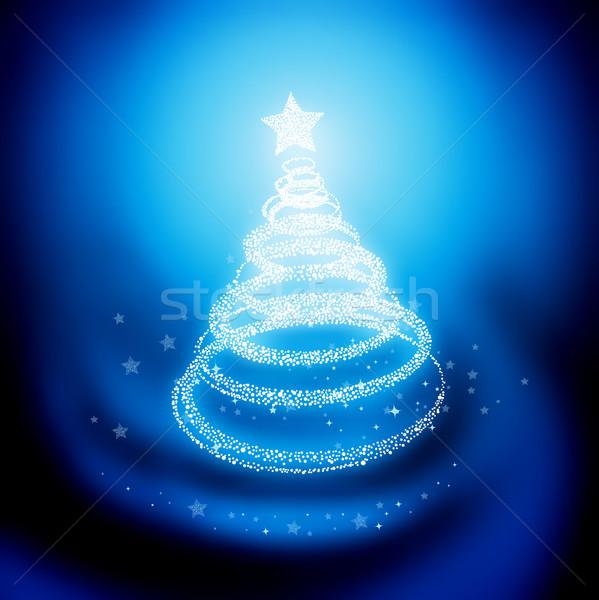 Choinka projektu zimą niebieski pokoju karty Zdjęcia stock © solarseven