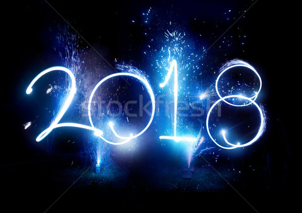 2017 Fireworks party - New Year Display!  Stock photo © solarseven