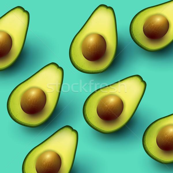 健康 新鮮な アボカド 背景 緑 ストックフォト © solarseven