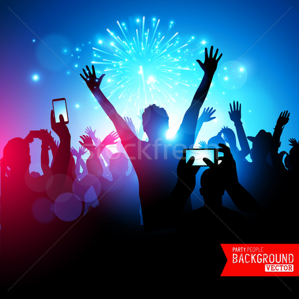 Stock photo: Big Party Crowd
