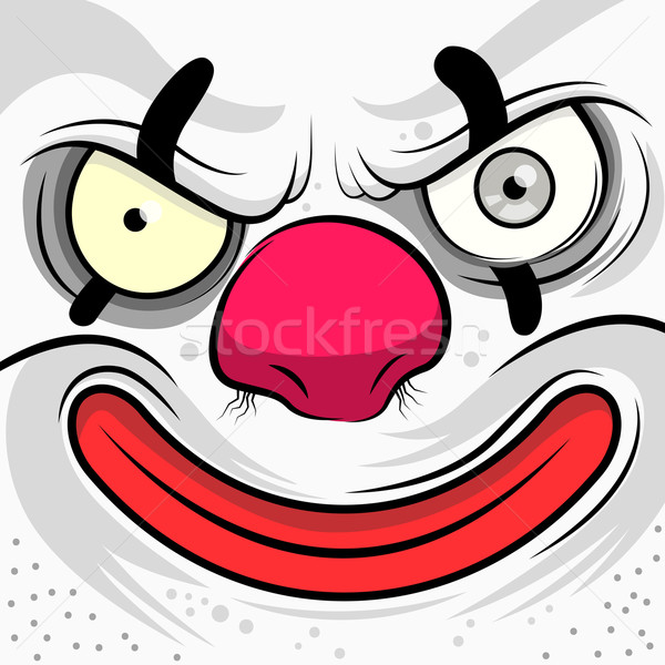 Stock photo: Square Faced Evil Clown