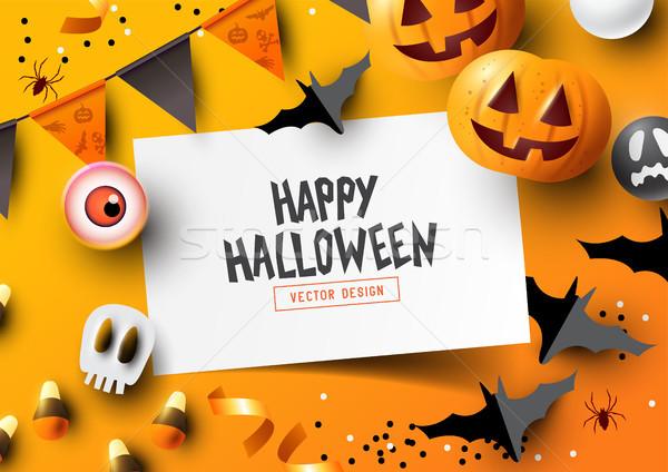 Top Down Halloween Composition Stock photo © solarseven