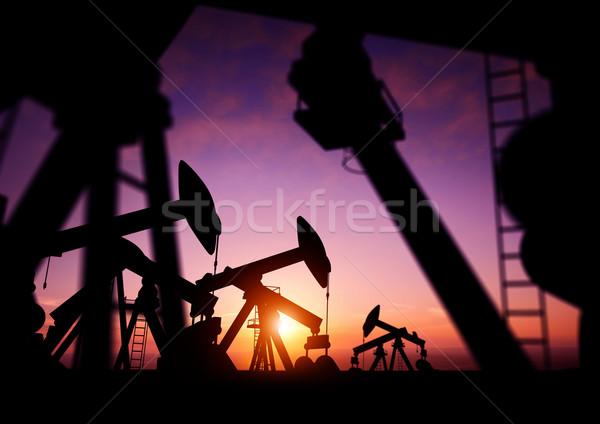 Olaj alkonyat üzlet hírek ipar benzin Stock fotó © solarseven