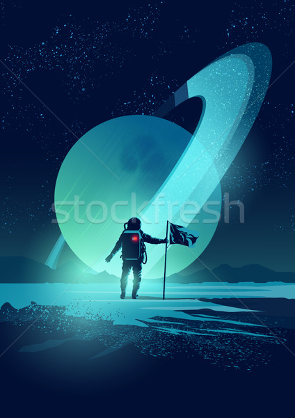 Astronaut and Planet System Stock photo © solarseven