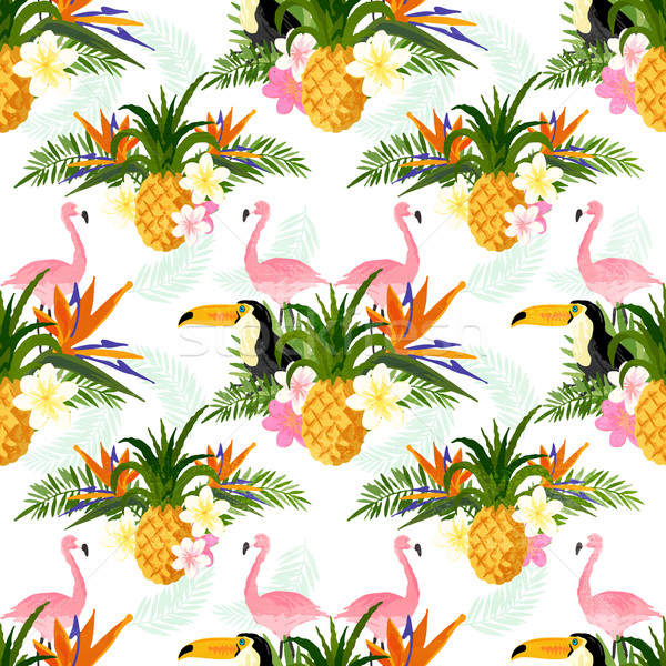 Seamless Tropical Pattern Stock photo © solarseven
