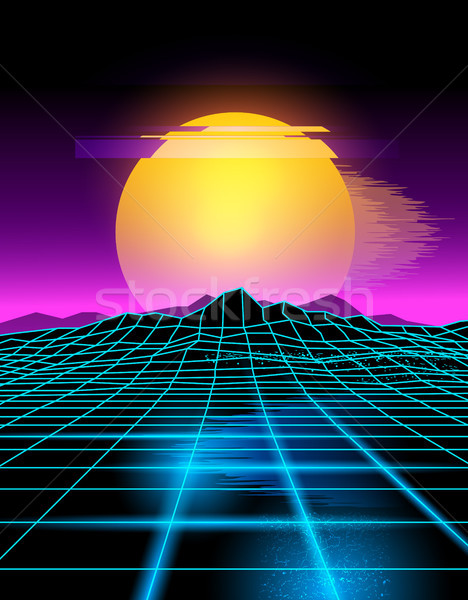 Neon Futuristic Background Stock photo © solarseven