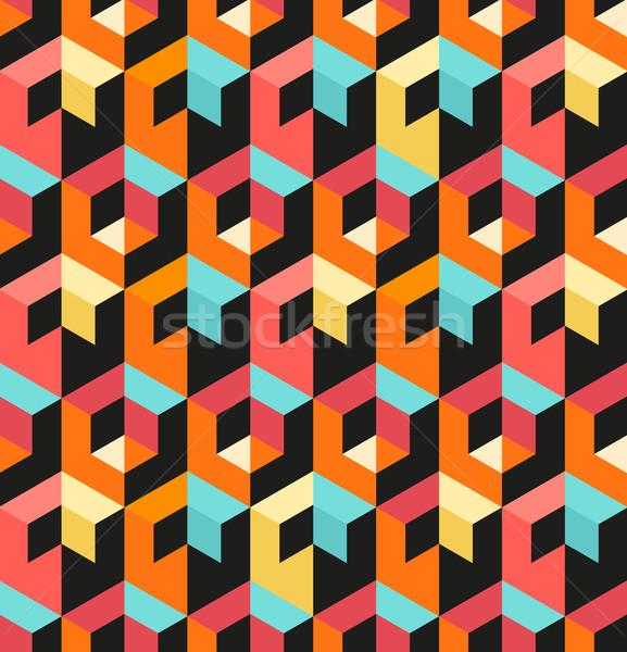 бесшовный геометрическим рисунком аннотация геометрический дизайна текстуры Сток-фото © solarseven