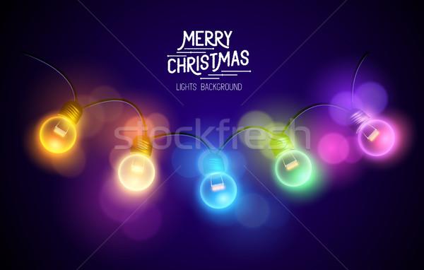 Natal fadas luzes colorido espaço Foto stock © solarseven
