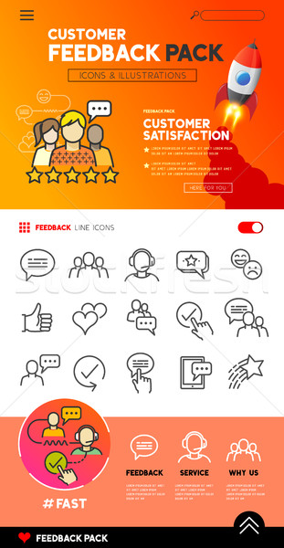 Customer Feedback icons and Design Stock photo © solarseven