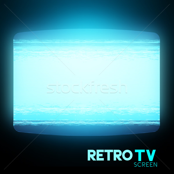 Retro Static TV Screen Stock photo © solarseven