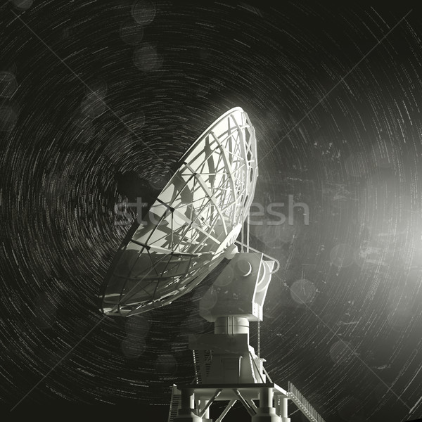 Radio Telescope And The Stars Stock photo © solarseven