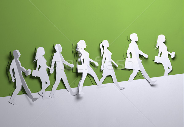Paper Art - Crowd Of People Background Stock photo © solarseven