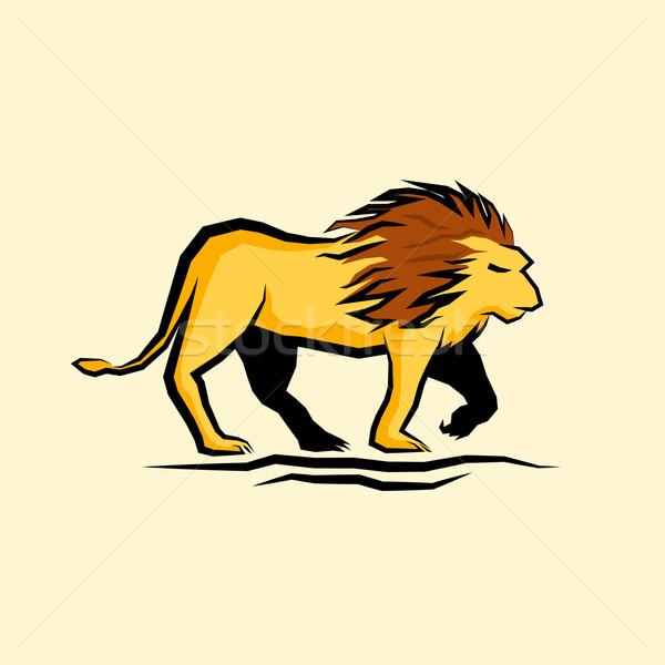 Meester leeuw vector zomer zwarte vrijheid Stockfoto © solarseven