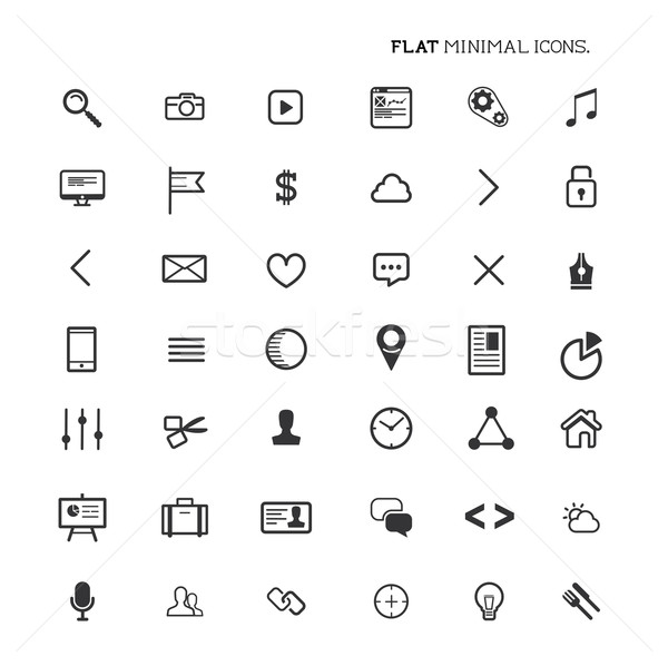 Modern Flat Minimal Icons Stock photo © solarseven