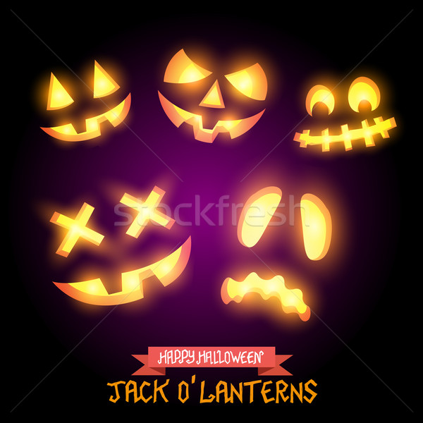 Halloween Jack O Lanterns Stock photo © solarseven