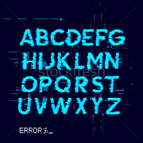 Stock photo: Error Glitch Letters