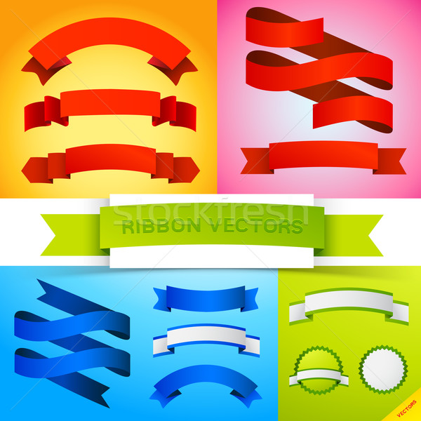 Vector Ribbon Banners Stock photo © solarseven