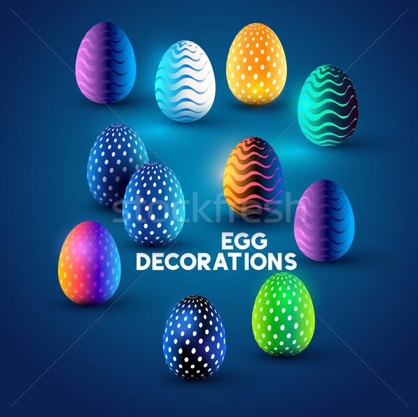 Easter Egg Designs Stock photo © solarseven