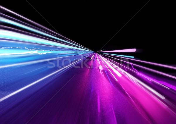 Super rápido luzes brilhante néon cores Foto stock © solarseven