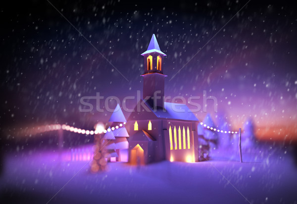 Festive Christmas Church Stock photo © solarseven