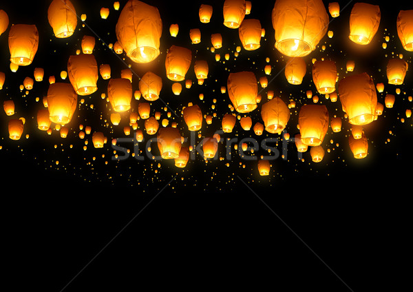 Chinese Fly Lanterns Stock photo © solarseven