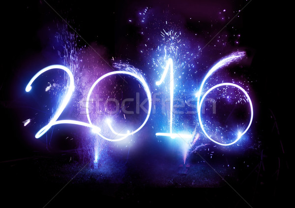 2016 Fireworks party - New Year Display!  Stock photo © solarseven