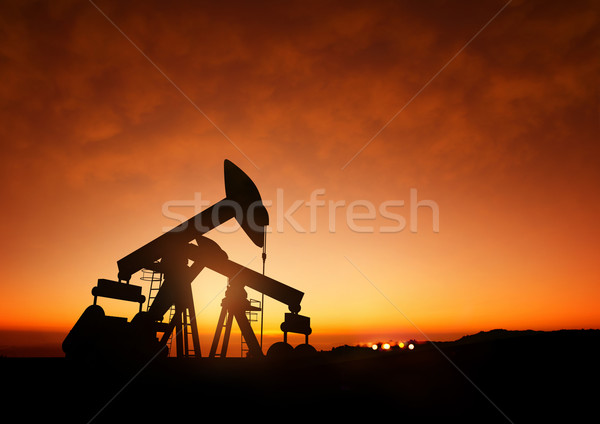 Oil Pumps at Dusk Stock photo © solarseven